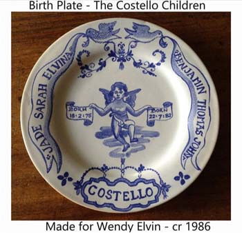 Birth Plate cr 1985