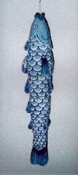 Blue Fish Windchime (6)