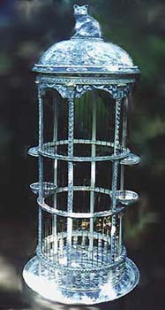 BlueWhite Bird Cage 2