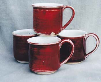 Copper Red Mugs
