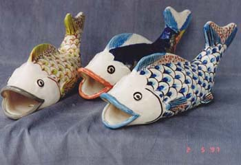 Fish Wall Pockets (3)