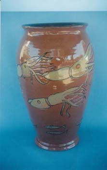 Large Vase Squid Dec