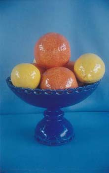 Lemon and Orange Blue Comport